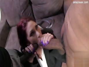 Picture Horny Hot Secretary Takes On Two Huge Black Cocks