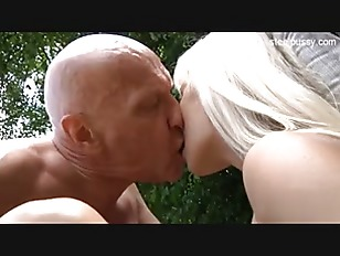 Picture Blonde Horny Chick Outdoor Play