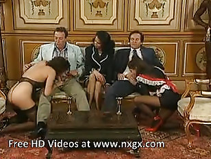 Two maids serve their Mistress