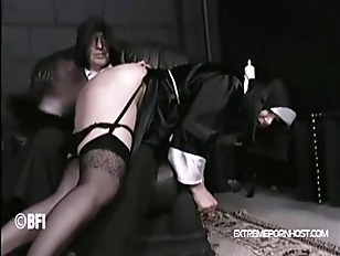 Nun hand spanked by father
