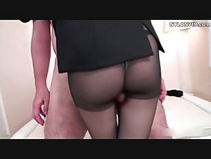 nylon stockings attendant pant