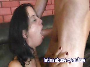 Latina Gags On Gringo Dick