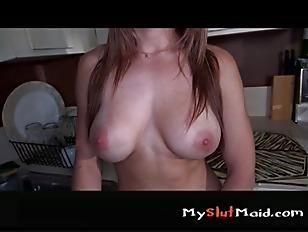 Latina maid banged after clean