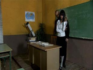 Picture Elena Grimaldi Bent Over School Desk