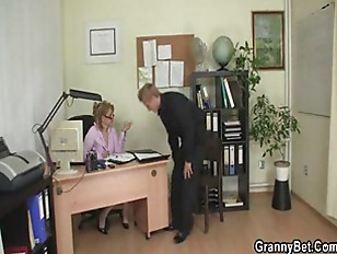 Office lady gives head then ge