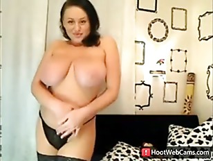 Cute Big Boobs Playing on Cam