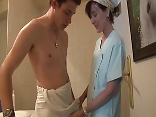 Picture French MILF Sucks Her Sons Friend Off