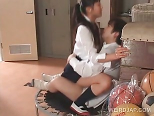 Asian school babes playing sex