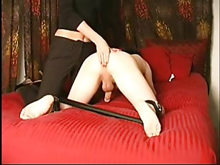 Handjob with spread legs and c