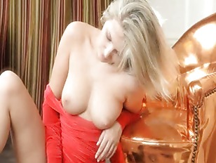 Red panties and brutal breasts from USA