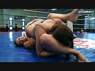 brutal lesbian wrestling
