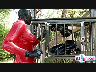 Sex slave outdoor training