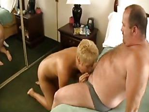 Chubby dude fucking blonde mat
