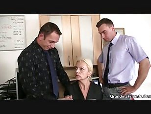 Picture Two Fellows Fuck Granny At Work